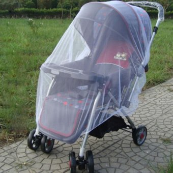 Sunweb Infants Baby Stroller Pushchair Mosquito Insect Net Safe Mesh Buggy Strollers Cover (White)