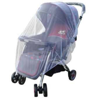 Sunweb Infants Baby Stroller Pushchair Mosquito Insect Net Safe Mesh Buggy Strollers Cover (White) - 2