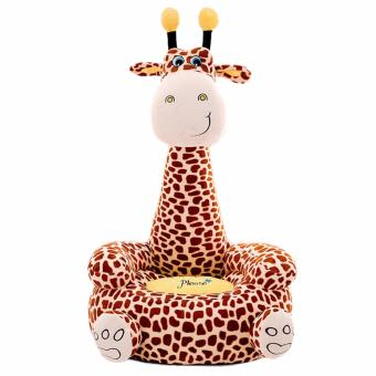 Super Cute Plush Toy Bean Bag Chair Seat for Children,Cute AnimalPlush Soft Sofa Front Seat Giraffe Brown