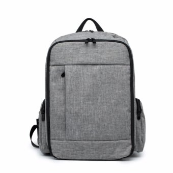 Super Large Capacity Diaper Backpack Dad Bag (Grey) - intl