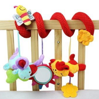 Super Soft Multifunctional Baby Car Bed Crib Hangings Animal PlushToys - intl
