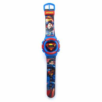Superman Graphic-strap LCD Watch
