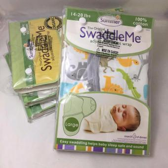 Swaddle Me summer infant wrap 100% Organic Cotton (grey animals)