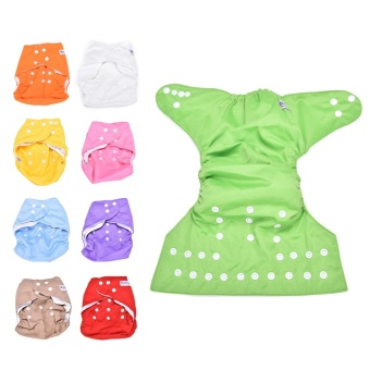 Sweet Alva Reusable Baby Washable Cloth Diaper Nappy +1INSERT Green- intl