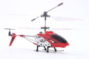 Syma S107G RC Helicopter Model Toys Mini Metal 3.5CH with GyroRemote Control (Red) - 3