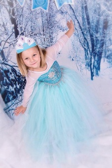 SZ Frozen Princess Dress for Kids Cosplay and Christmas 2017 New Style Costume ( Size: 140CM) - intl - picture 2