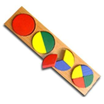 Tahanang Walang Hagdanan Circle Fraction Wooden Toy (Multicolor)