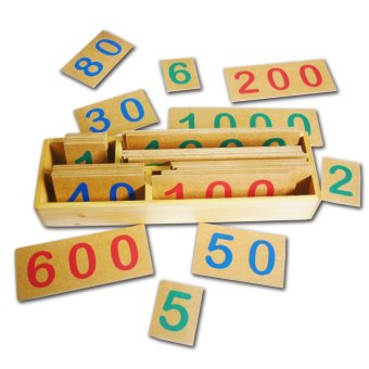 Tahanang Walang Hagdanan Decimal Symbols in Cards Wooden Toy (Brown)