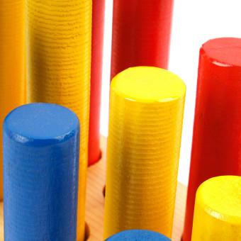 Tahanang Walang Hagdanan Graded Dowels S/15 Wooden Toy (Multicolor) - 3