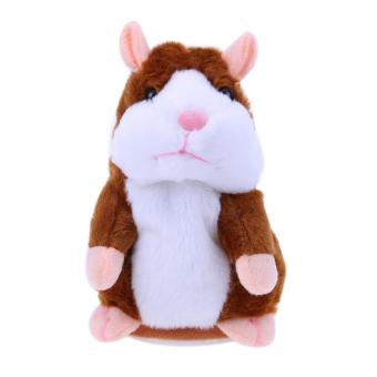 Talking Hamster Plush Toy Kids Speak Talking Sound Record ToyCoffee