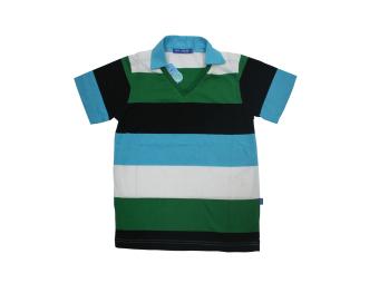 Teen's Basic Shirt #QUASIMODO Stripe - D (Blue)