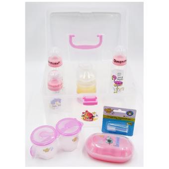 Tender Luv Babies Bang On the Door Girls' Travel Gift Set (Pink) - 2