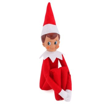 The Elf On The Shelf Figure Christmas Novelty Toys Xmas Gift Plush Dolls For Kids Child Boy (Red) (Intl)