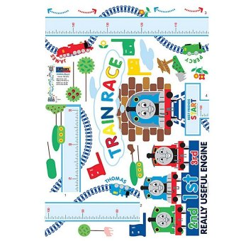 Thomas And Friends Height Chart Wall Sticker Part 39