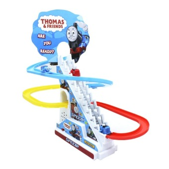 Thomas And Friends Trackmaster Climbing stairs set ,Tomas train LEDlight music Electric Rail Road kits boy assembly toys car