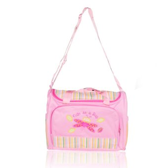Tickle A-005 Cutie Butterfly design baby Diaper Bag (Pink)