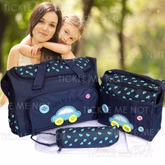 Tickle TMN- 002 4-in-1 Multi-function Baby Diaper Tote Handbag Set (Dark Blue) - picture 2