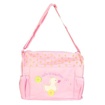 Tickle TMN-003 Cutie Diaper Baby Bag Duck Design (Pink)