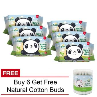 Tiny Buds Organic Baby Wipes Buy 6 Get 1 Natural Cotton Buds Free