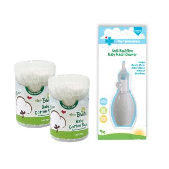 Tiny Remedies Nasal Aspirator Cleaner with 2 Baby Cotton Buds Kit