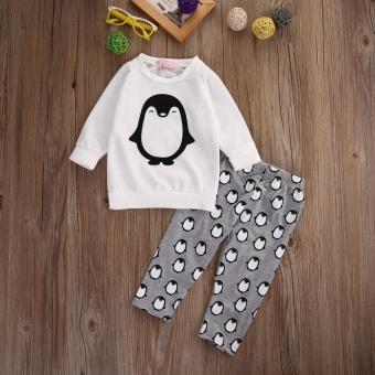 Toddler Kids Baby Boys Girls Clothes T-shirt Sweatshirt+Pants 2PCSOutfits Set 0-24M(6-12 Months) - intl - 4