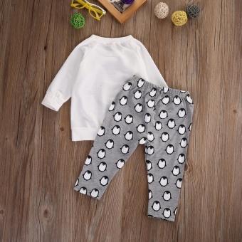 Toddler Kids Baby Boys Girls Clothes T-shirt Sweatshirt+Pants 2PCSOutfits Set 0-24M(6-12 Months) - intl - 5