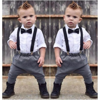 Toddler Kids Baby Boys Outfits Shirt Tops +Long Pants Overalls Clothes Set 0-24M - intl