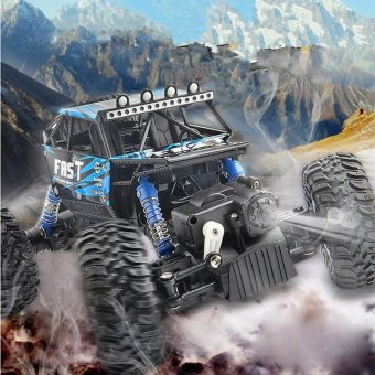 TOMSOO 1PC Remote Control Off Road Racer Rc Truck Car 4WD Off Road Vehicle Child Toy??blue) - intl - 3
