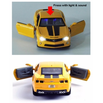 Transformers:Chevrolet Camaro 1:32 Scale Die-cast Model Car with Light & Sound,Door Opening - intl - 5