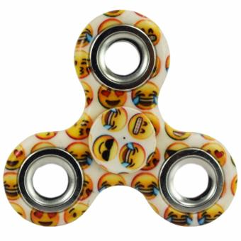 Tri Fidget Hand Finger Spinner Tri-Spinner Spin Widget Focus Toy(Yellow/White)
