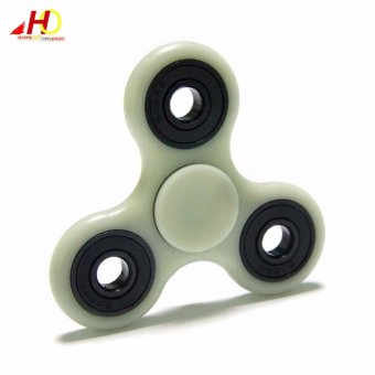 Tri Spinner Fidgets Toy Plastic EDC Sensory Fidget Spinner ForAutism and ADHD Kids/Adult Funny Anti Stress Toys (Luminous/Glow inthe Dark)