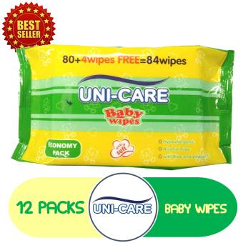 Uni-Care Baby Wipes [G] 80's + 4's Pack of 12