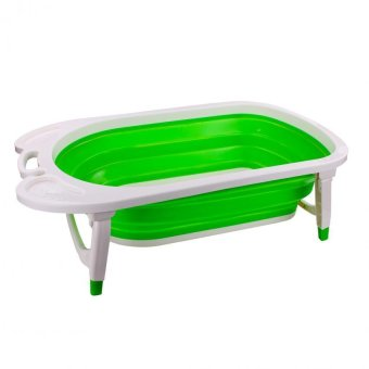 Unicorn Baby-to-Toddler Folding Temperature Sensing Bathtub (Green)