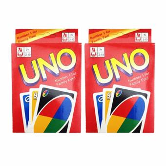 UNO Card 108 English Fun Cards Game for Family Set of 2