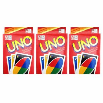 UNO Card 108 English Fun Cards Game for Family Set of 3