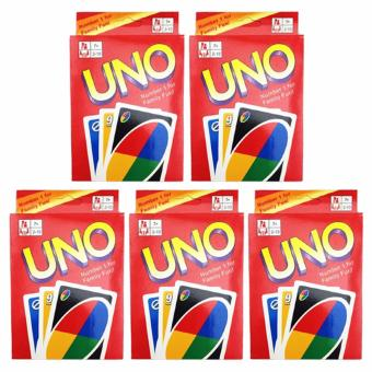 UNO Card 108 English Fun Cards Game for Family Set of 5