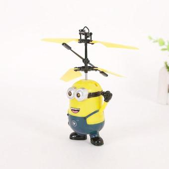 Upgrade Induction Flying Toys Despicable Me Minions Remote ControlRC Helicopter Floating Toys Kids Flying Toys Christmas Gift - intl - 3