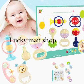 USA TOP ONE lazada and USA best selling Baby Toy Puzzle EducationalRattle Teether Iants(5 Pieces) Random style
