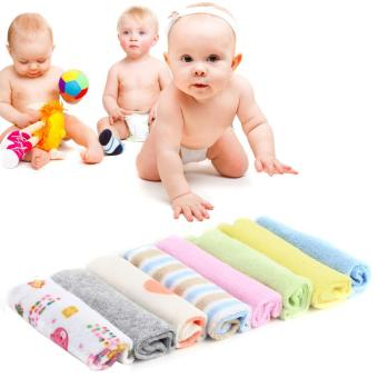 USTORE 8Pcs Baby Infant Newborn Bath Towel Washcloth Bathing Feeding Wipe Cloth Soft