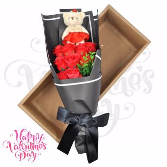 Valentines Gift Bear Stuffed Toy Rose Bouquet Flower Beads Design Price Philippines