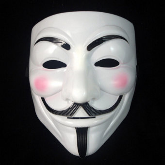 Vendetta Halloween Cosplay Dressing V Mask Costumes Fawkes Anonymous Playing - intl