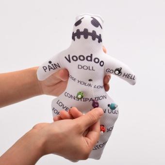 Voodoo Doll Revenge Spell with 7 Skull Pins - intl - 3