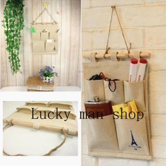 Wall Door Hanging Organizer Closets Storage Hanging Bag 5 pockets