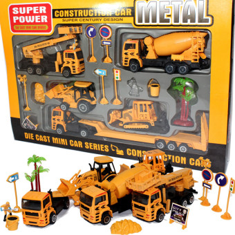 Warrior boy's mining machine alloy construction vehicles