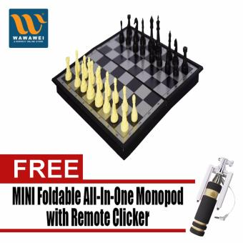 Wawawei 9408 Chess Board ( Multicolor ) with Free Mini FoldableAll-In-One Monopod with Remote Clicker (Black)