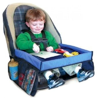 Wawawei High Quality Tickle Highway Childsafe On-the-Go WaterproofPlay n' Snack Tray (Navy Blue)