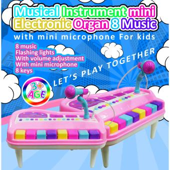 Wawawei New Amazing Musical Instrument mini Electronic Organ 8Music with mini microphone for kids Electronic Organ#515A
