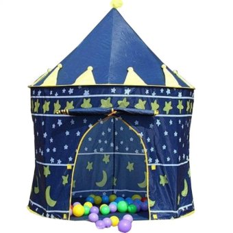 Wawawei Portable Folding Kids Castle Palace Play Tent (Blue)