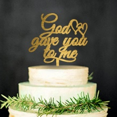 Cupcake toppers for sale cake toppers online brands prices wedding cake topper god gave you to me cake decor intl junglespirit Gallery