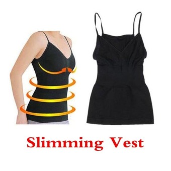 Weight Loss Fat Burning Black Color Slimming Vest Corset BodyShaper Chest UP